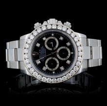 Rolex SS Daytona 3.05CT Diamond Wristwatch