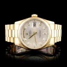 Rolex 18K Day-Date 118238 Diamond Wristwatch