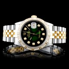 Rolex YG/SS DateJust 1.00ctw Diamond Gents Wristwa