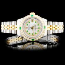 Rolex YG/SS DateJust 1.00ct Diamond Ladies Watch