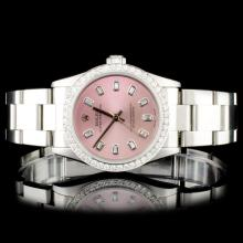 Rolex SS 31MM Oyster Perpetual Diamond Watch