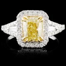 18K Gold 1.90ctw Fancy Color Diamond Ring