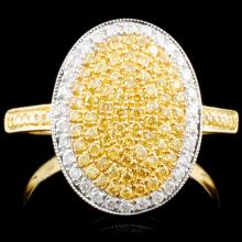 18K Gold 0.55ctw Fancy Color Diamond Ring