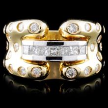 14K Yellow Gold 1.25ctw Diamond Ring