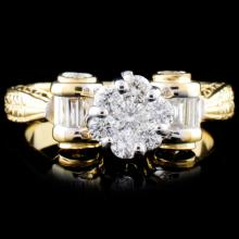18K Gold 1.11ctw Diamond Ring