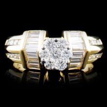 14K Gold 1.10ctw Diamond Ring