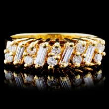 18K Yellow Gold 0.46ctw Diamond Ring