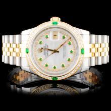Rolex TwoTone DateJust 1.50ct Diamond Wristwatch