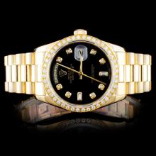 Rolex YG Day-Date Diamond Men's Watch