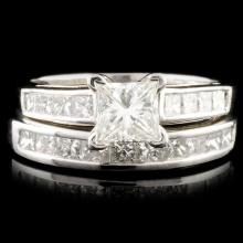 Solid Platinum 3.50ctw Diamond Ring