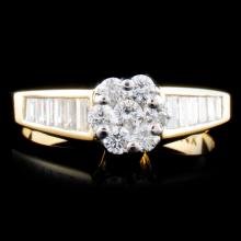 14K Gold 0.77ctw Diamond Ring