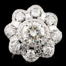 18K Gold 3.50ctw Diamond Ring