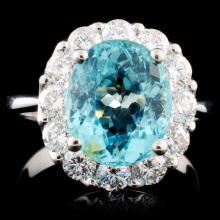 18K Gold 3.83ct Tourmaline & 1.48ctw Diamond Ring