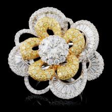 18K Gold 4.61ctw Fancy Color Diamond Ring