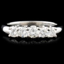 Platinum 0.77ctw Diamond Ring