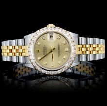 Rolex YG/SS DateJust 1.50ct Diamond Mid-Size Watch