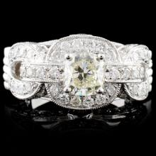 18K White Gold 2.97ctw Diamond Ring