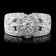 18K White Gold 1.04ctw Diamond Ring