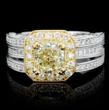 18K Gold 2.21ctw Fancy Color Diamond Ring