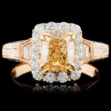 18K Gold 2.26ctw Fancy Colored Diamond Ring