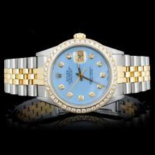 Rolex YG/SS DateJust Men's 1.75ct Diam Wristwatch