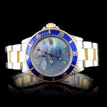 Rolex YG/SS Submariner Diamond Men's Wristwatch