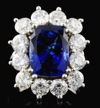 18K Gold 5.64ct Tanzanite & 3.75ct Diamond Ring