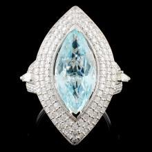 18K Gold 3.98ct Tourmaline & 1.60ctw Diamond Ring