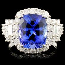 18K Gold 4.32ct Tanzanite & 1.36ctw Diamond Ring