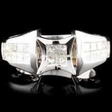 18K Gold 1.17ctw Diamond Ring