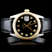 Rolex DateJust Men's Diamond Wristwatch