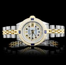 Rolex YG/SS DateJust Ladies 1.00ct Diamond Watch