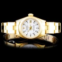 Rolex YG DateJust Ladies Watch
