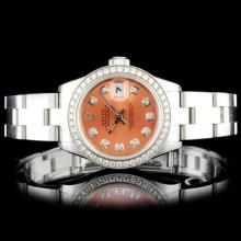 Rolex SS DateJust Ladies Diamond Wristwatch