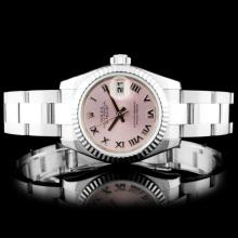 Rolex SS DateJust Pink Ladies Wristwatch 179174