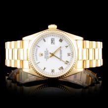 Rolex Yellow Gold Day-Date Wristwatch