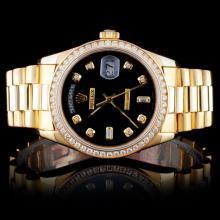 Rolex 18K DayDate 1.50ct Diamond Wristwatch