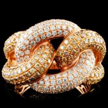 14K Gold 2.75ctw Fancy Color Diamond Ring