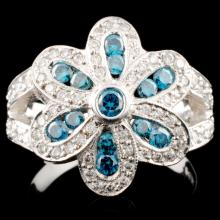 14K Gold 1.30ctw Fancy Color Diamond Ring