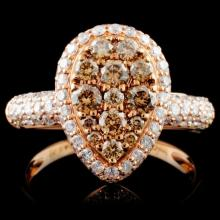 14K Gold 1.33ctw Fancy Diamond Ring