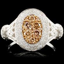 14K Gold 1.06ctw Fancy Color Diamond Ring