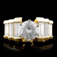 14K Yellow Gold 2.82ctw Diamond Ring