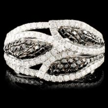 14K Gold 1.28ctw Fancy Color Diamond Ring