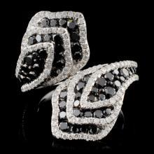 14K White Gold 2.16ctw Fancy Color Diamond Ring