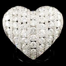 18K Gold 6.34ctw Diamond Ring