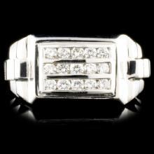 14K Gold 0.77ctw Diamond Ring