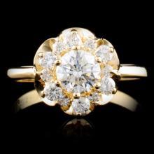14K Gold 0.84ctw Diamond Ring