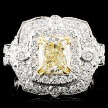 18K Gold 2.82ctw Fancy Diamond Ring