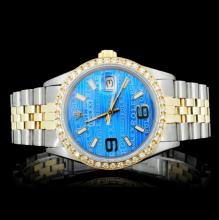 Rolex YG/SS DateJust 1.00ct Diamond Men's Watch