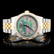 Rolex YG/SS DateJust 1.00ctw Diamond Gents Wristwa